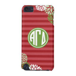 Alpha Gamma Delta | Monogram Stripe Pattern iPod Touch (5th Generation) Covers