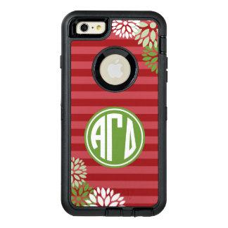 Alpha Gamma Delta | Monogram Stripe Pattern OtterBox Defender iPhone Case