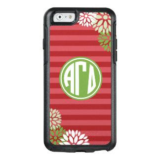Alpha Gamma Delta   Monogram Stripe Pattern OtterBox iPhone 6/6s Case