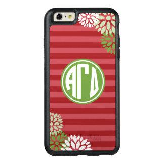 Alpha Gamma Delta | Monogram Stripe Pattern OtterBox iPhone 6/6s Plus Case