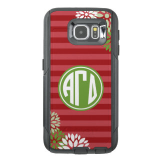 Alpha Gamma Delta | Monogram Stripe Pattern OtterBox Samsung Galaxy S6 Case
