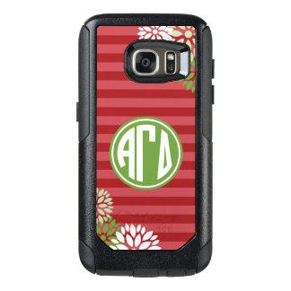 Alpha Gamma Delta | Monogram Stripe Pattern OtterBox Samsung Galaxy S7 Case