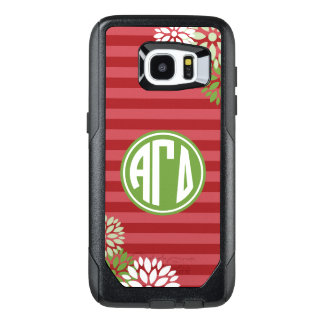Alpha Gamma Delta | Monogram Stripe Pattern OtterBox Samsung Galaxy S7 Edge Case