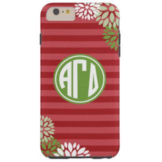 Alpha Gamma Delta | Monogram Stripe Pattern Tough iPhone 6 Plus Case