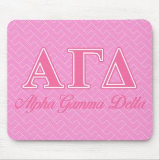 Alpha Gamma Delta Pink Letters Mouse Mat