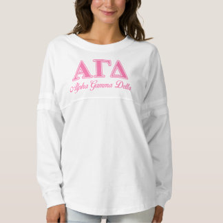 Alpha Gamma Delta Pink Letters Spirit Jersey
