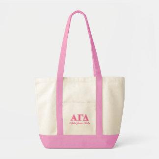 Alpha Gamma Delta Pink Letters Tote Bag