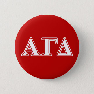 Alpha Gamma Delta Red and White Letters 6 Cm Round Badge