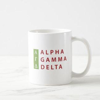 Alpha Gamma Delta Stacked Coffee Mug