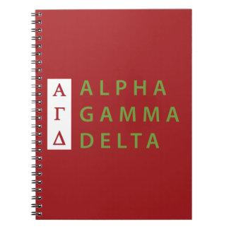 Alpha Gamma Delta Stacked Spiral Notebook
