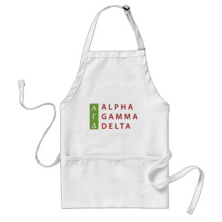 Alpha Gamma Delta Stacked Standard Apron