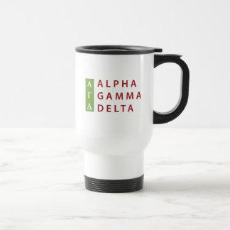 Alpha Gamma Delta Stacked Travel Mug