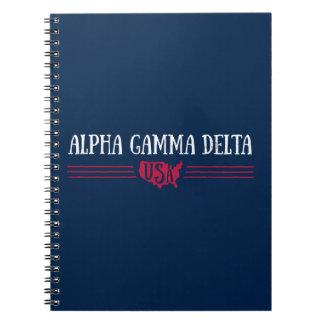 Alpha Gamma Delta USA Spiral Notebook