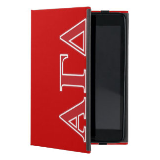 Alpha Gamma Delta White and Green Letters iPad Mini Case