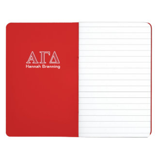 Alpha Gamma Delta White and Green Letters Journal