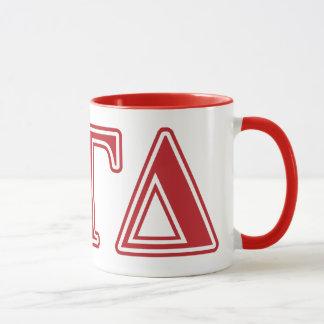 Alpha Gamma Delta White and Green Letters Mug