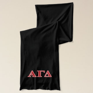 Alpha Gamma Delta White and Green Letters Scarf