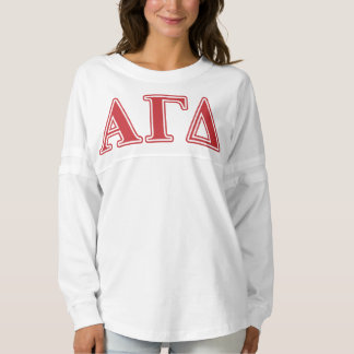 Alpha Gamma Delta White and Green Letters Spirit Jersey