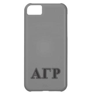 Alpha Gamma Rho Black Letters iPhone 5C Case