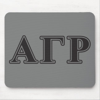 Alpha Gamma Rho Black Letters Mouse Mat