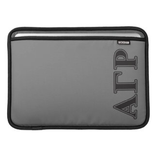 Alpha Gamma Rho Black Letters Sleeve For MacBook Air