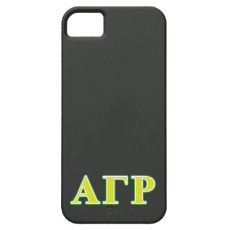 Alpha Gamma Rho Green and Yellow Letters Barely There iPhone 5 Case