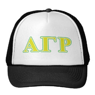 Alpha Gamma Rho Green and Yellow Letters Cap