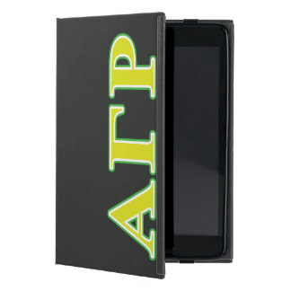 Alpha Gamma Rho Green and Yellow Letters Case For iPad Mini