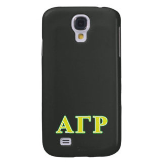 Alpha Gamma Rho Green and Yellow Letters Galaxy S4 Case