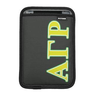 Alpha Gamma Rho Green and Yellow Letters iPad Mini Sleeve