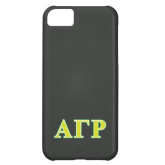 Alpha Gamma Rho Green and Yellow Letters iPhone 5C Case