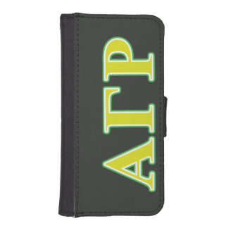 Alpha Gamma Rho Green and Yellow Letters iPhone SE/5/5s Wallet Case