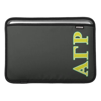 Alpha Gamma Rho Green and Yellow Letters Sleeve For MacBook Air