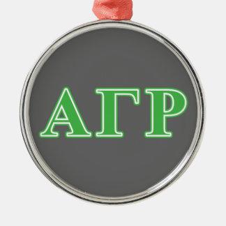 Alpha Gamma Rho Green Letters Christmas Ornament