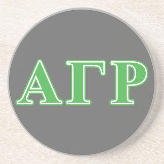 Alpha Gamma Rho Green Letters Coaster