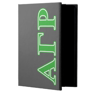 Alpha Gamma Rho Green Letters iPad Air Cover