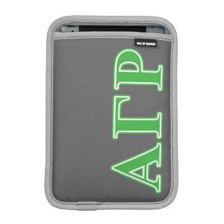 Alpha Gamma Rho Green Letters iPad Mini Sleeve