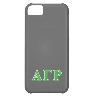 Alpha Gamma Rho Green Letters iPhone 5C Case