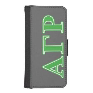 Alpha Gamma Rho Green Letters iPhone SE/5/5s Wallet Case