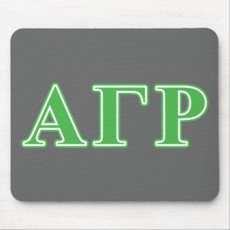 Alpha Gamma Rho Green Letters Mouse Mat
