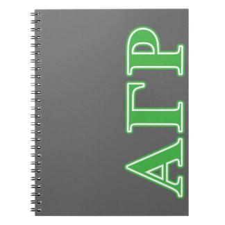 Alpha Gamma Rho Green Letters Notebooks
