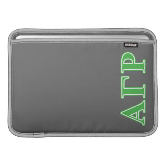 Alpha Gamma Rho Green Letters Sleeve For MacBook Air