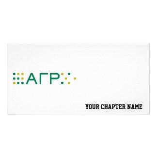 Alpha Gamma Rho - Letters Horizontal Card