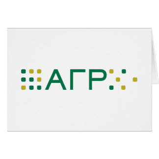 Alpha Gamma Rho - Letters Horizontal Card
