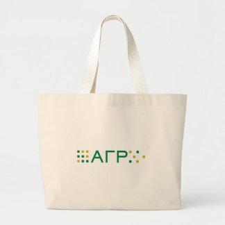 Alpha Gamma Rho - Letters Horizontal Large Tote Bag