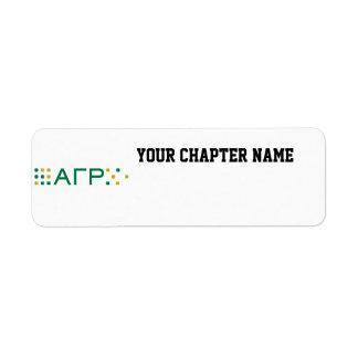 Alpha Gamma Rho - Letters Horizontal Return Address Label