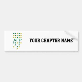 Alpha Gamma Rho - Letters Vertical Bumper Sticker
