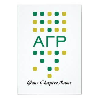 Alpha Gamma Rho - Letters Vertical Card