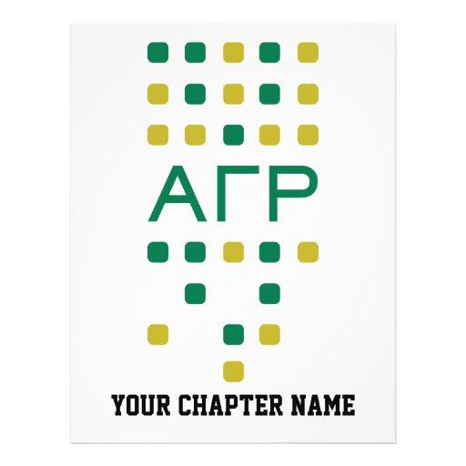 Alpha Gamma Rho - Letters Vertical Flyer