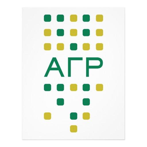 Alpha Gamma Rho - Letters Vertical Custom Flyer